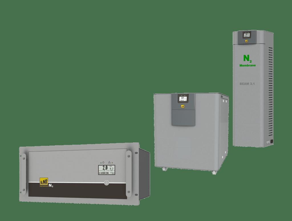 Gas generators for laser Beam model